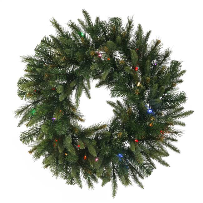 "48"" Cashmere Wreath LED 200MU"