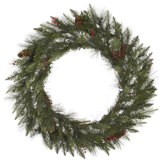 "48"" Vallejo Mix Wreath Pine W/Cones 280T"