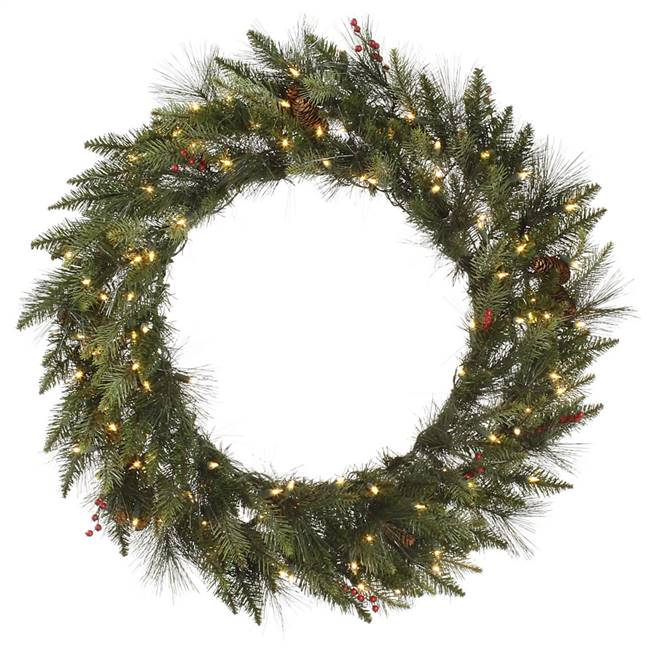 "48"" Vallejo Mixed Pine Wreath 100CL Dura"