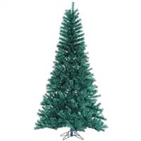 "6.5' x 42"" Aqua Tinsel Tree 681T"