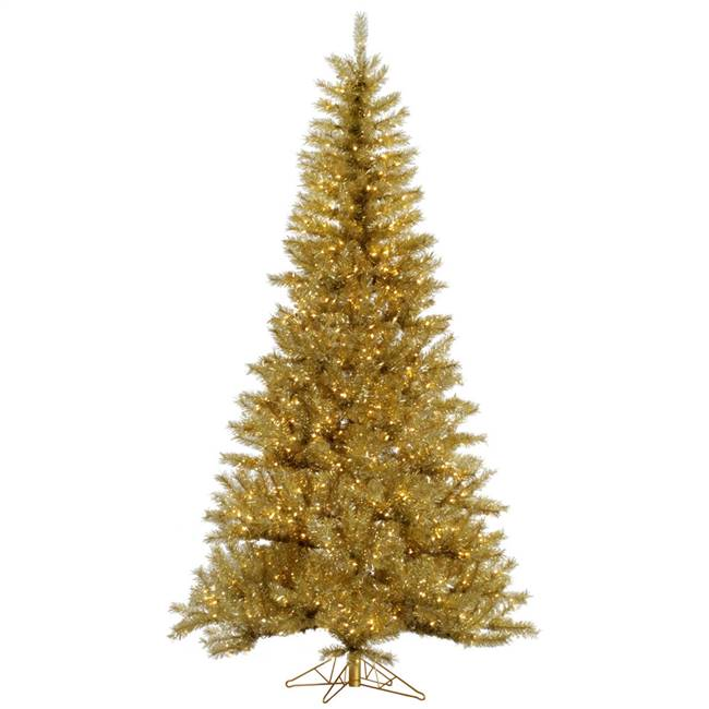 "4.5' x 27"" Gold/Silver Tinsel 200WW Led"