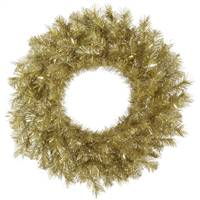"24"" Gold/Silver Tinsel Wreath 120T"