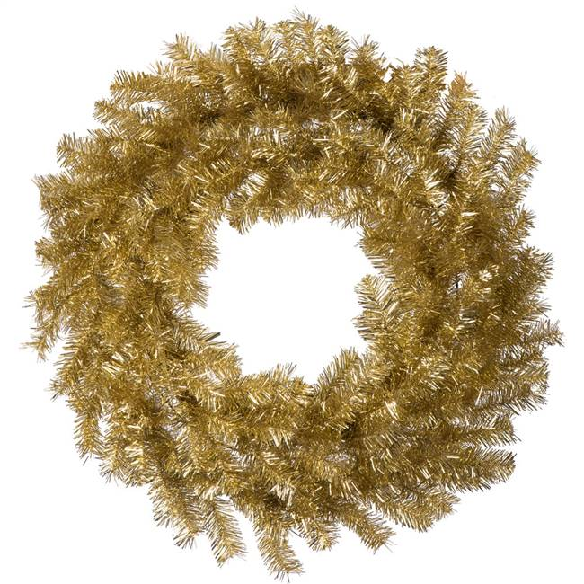 "48"" Gold/Silver Tinsel Wreath 300T"
