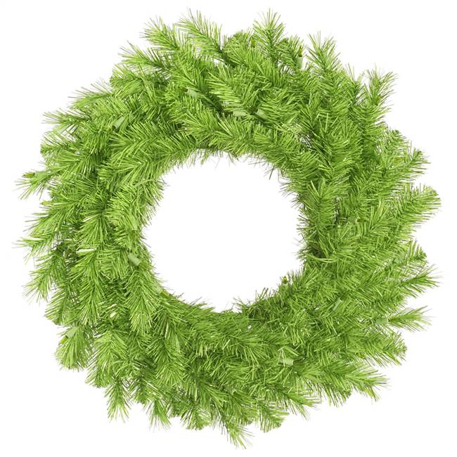 "48"" Lime/Green Tinsel Wreath 300T"