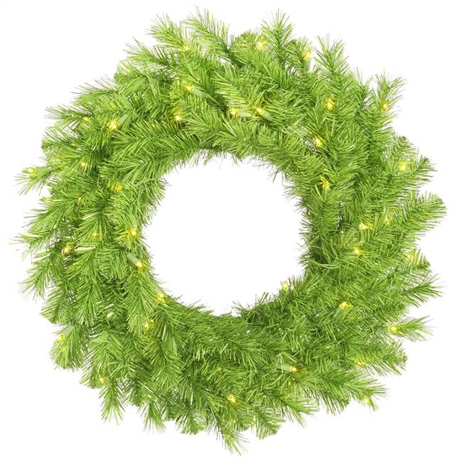 "48"" Lime/Green Tinsel Wreath 100Lime"