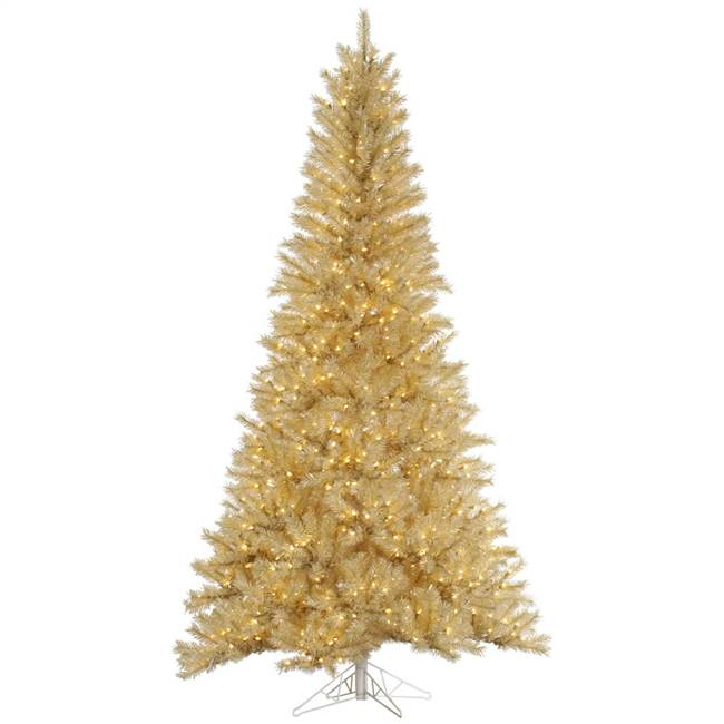 "5.5' x 36"" White/Gold Tinsel 350Clear"