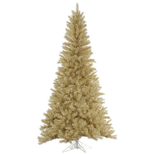 "10' x 63"" White/Gold Tinsel Tree 2195T"