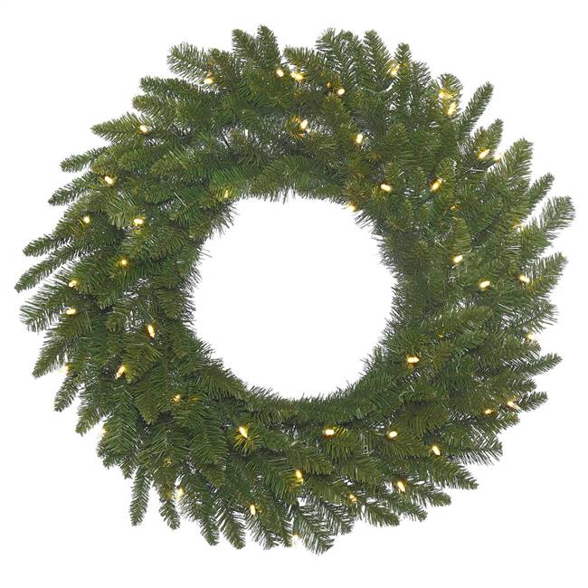 "48"" Durango Spruce Wreath 200LED WmWht"