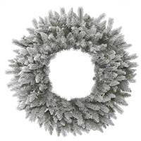 "12"" Frosted Sable Pine Wreath 45Tips"
