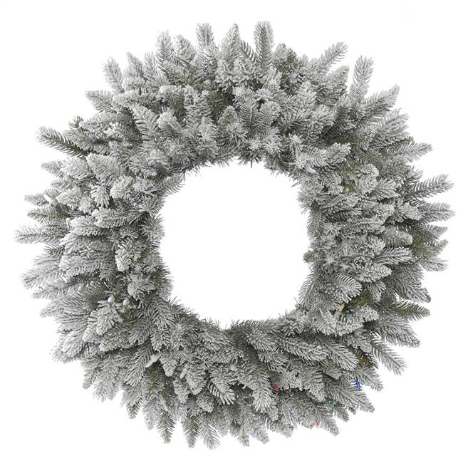 "36"" Frosted Sable Pine Wreath 240Tips"