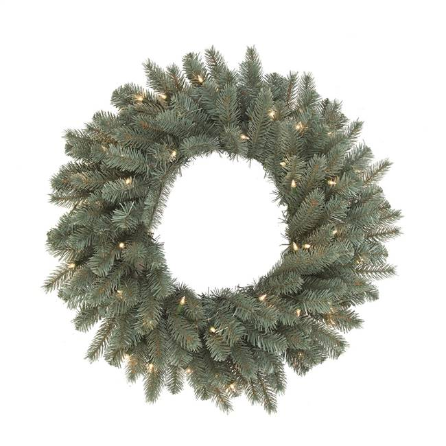 "42"" Colorado Blue Wreath 150LED WmWht"