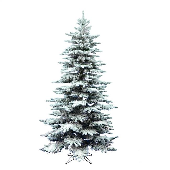"4.5' x 34"" Flocked Rushden Fir 328 Tips"