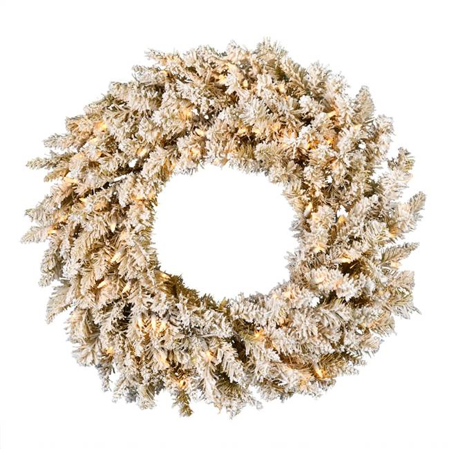 "48"" Frosted Gold Wreath DuraLit 200WW"