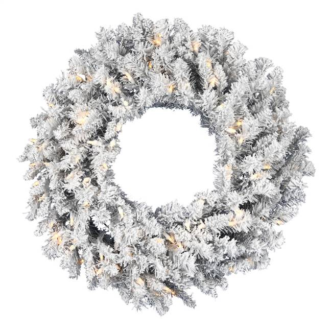 "36"" Frosted Silver Wreath DuraLit 150WW"