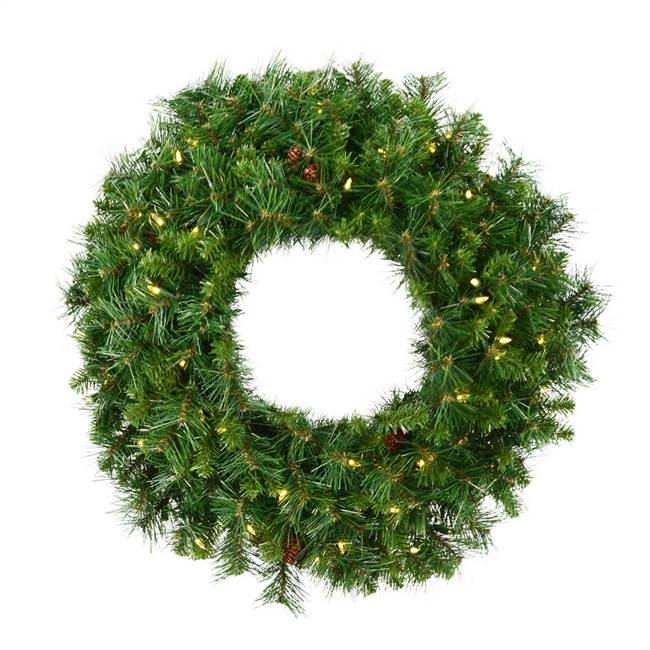 "42"" Cheyenne Pine Wreath LED 150WW"