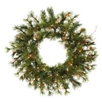 "16"" Prelit Mixed Country Wreath 35CL"