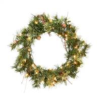 "20"" Prelit Mixed Country Wreath 35CL"