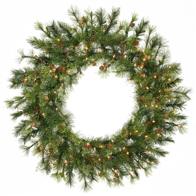 "36"" Mixed Country Wreath Dura-Lit 100CL"