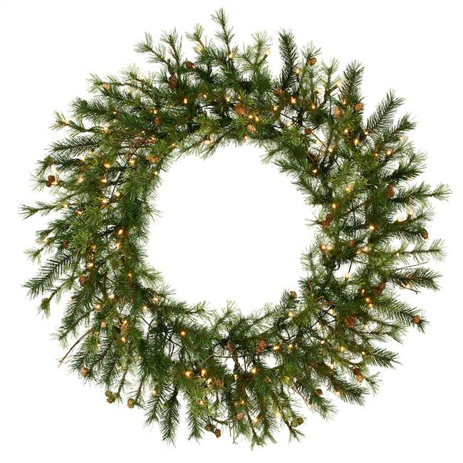 "48"" Mixed Country Wreath Dura-Lit 150CL"