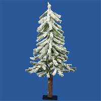 "3' x 22"" Flocked Alpine Tree 142T"
