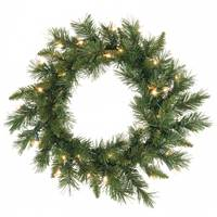 "18"" Imperial Pine Wreath 35 Clear 65T"