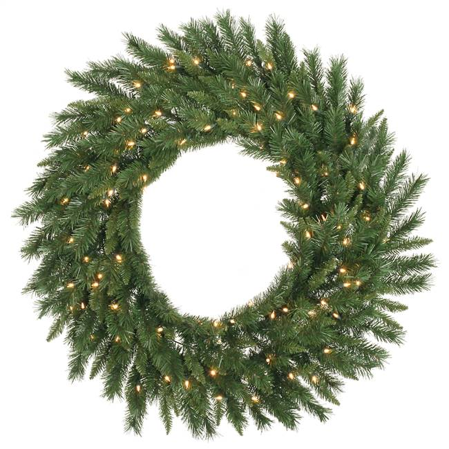 "48"" Imperial Pine Wreath 200WmWht LED"