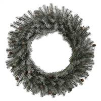 "20"" Frosted Pistol Pine Wreath 240T"