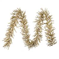 "9' X 10"" Champagne Garland 720 Tips"