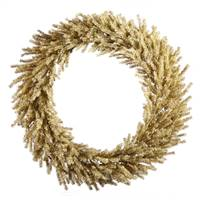 "24"" Champagne Wreath 580 Tips"