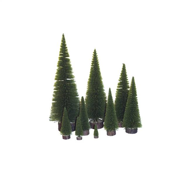 "5"" Moss Green Pine Village Tree"