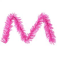 "9' x 10"" Hot Pink Mini Garland 500T"