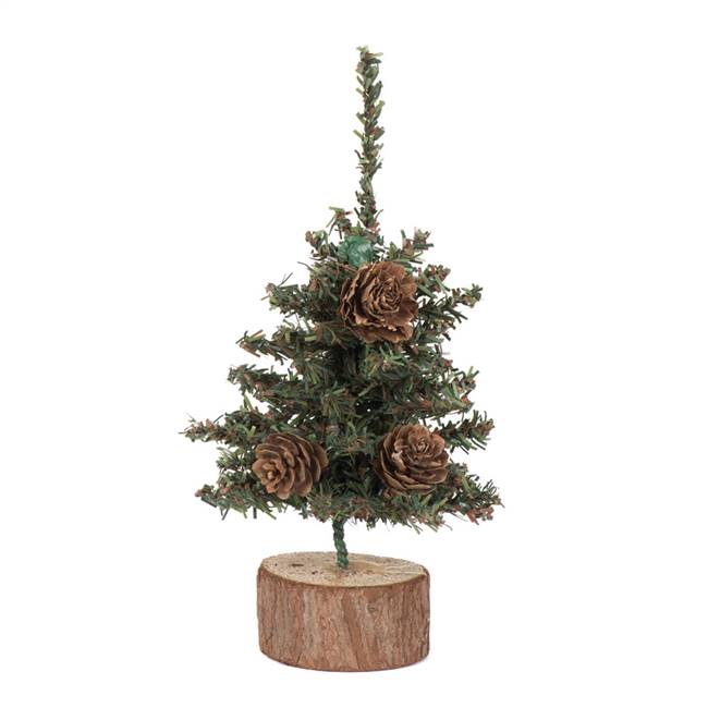 "6"" Carmel Pine Tree 72 Tips Wood Base"