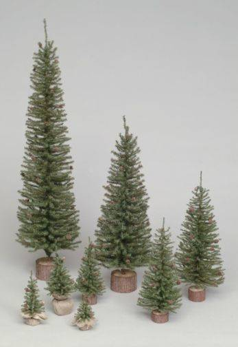 "48"" Carmel Pine Tree 432 Tips Wood Base"