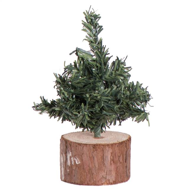 "4"" Mini Pine Tree 54 Tips Wood Base"