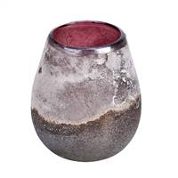 "6"" Milestone Gray Rioja Glass Vase"