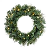 "20"" Mixed Brussels Wreath Dura-Lit 35WW"