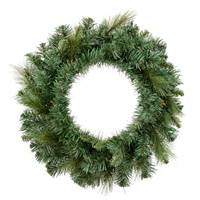 "24"" Mixed Brussels Pine Wreath 120T"