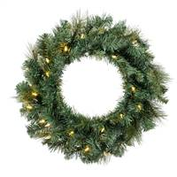 "24"" Mixed Brussels Wreath Dura-Lit 50CL"
