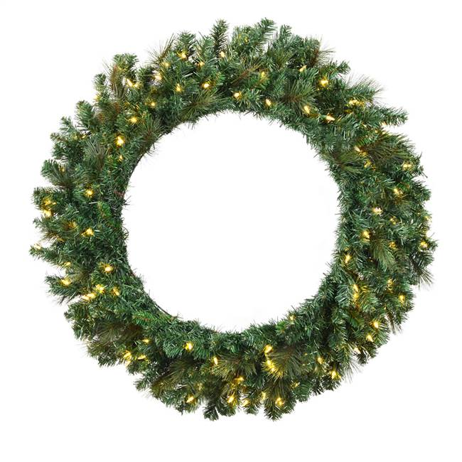 "36"" Mixed Brussels Wreath Dura-Lit 100WW"
