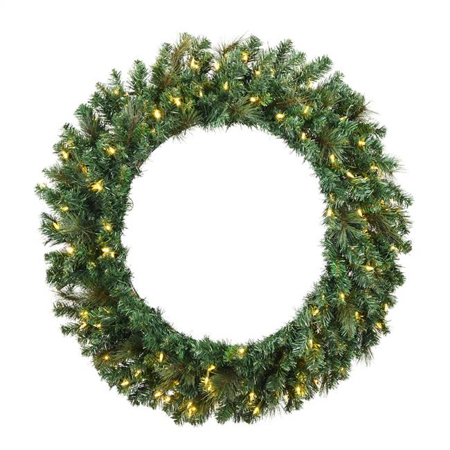 "48"" Mixed Brussels Wreath Dura-Lit 200CL"