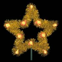 "36"" Gold Metallic Tree Top Star w/C7 LED"