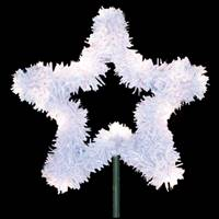 "24"" White Metallic Tree Top Star C7 LED"