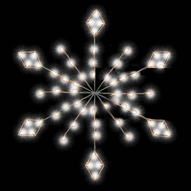4' Diamond Snowflake w/48 LEDCool C7