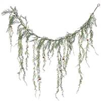 4' Weeping Cedar Garland w/Cones 189Tips
