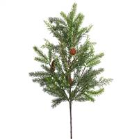 "28"" Cedar-White Spruce Spray w/Cones 30T"