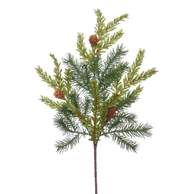 "18"" Hemlock-Angel Pine Spray w/Cones 11T"