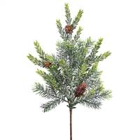 "18"" Frosted Hemlock-Angel Pine Spray 11T"