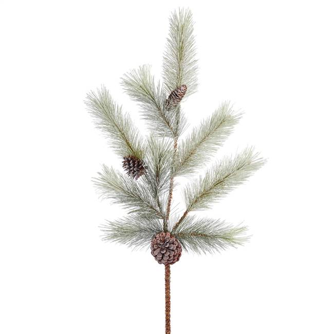 "34"" Frosted Bellevue Pine Spray Cone 2/b"