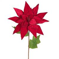 "24"" Poinsettia Stem Red 3/Bag"