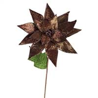 "24""  Poinsettia Stem Chocolate 3/Bag"